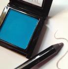 MAKE's matte eyeshadow in Siberian Blue and gel liner in Heavy Metal
